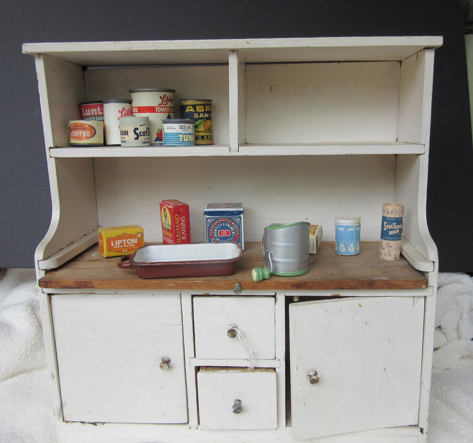 Vintage Doll's Hoover Kitchen Cabinet