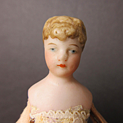 Antique Partially Dressed Dollhouse Woman