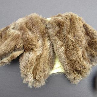 Vintage Rabbit Coat for Dolls
