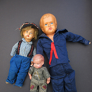 Group of three Vintage Celluloid Boys