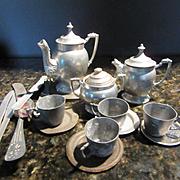 Vintage Metal Tea Set