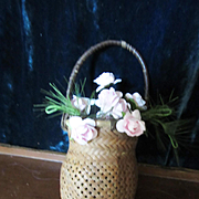 Antique Tiny Basket for Doll