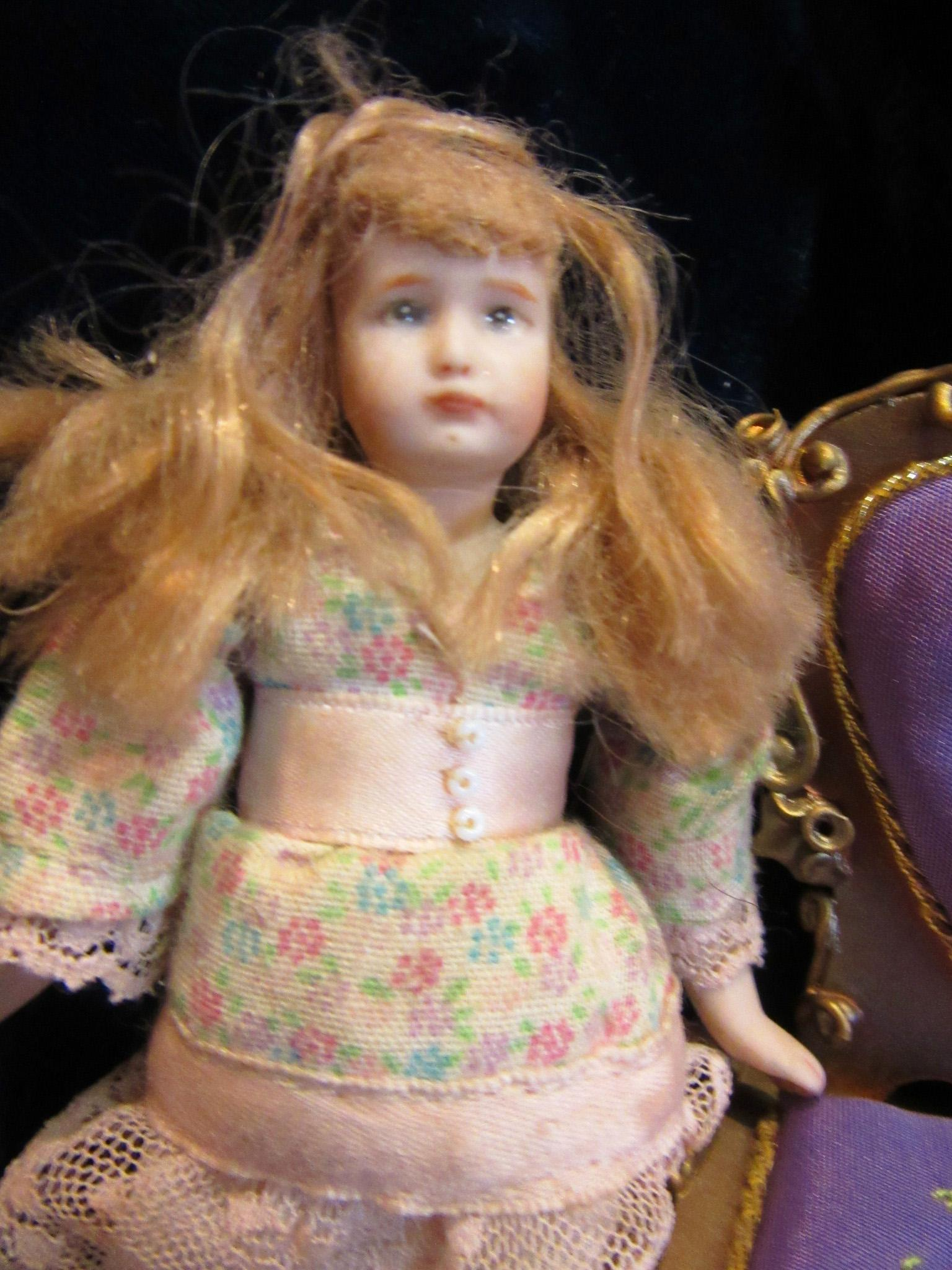 Vintage Dollhouse Young Girl