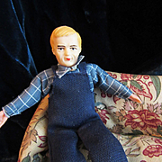 Vintage Dollhouse Farmer Man