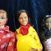 Three Mod Era vintage Barbies