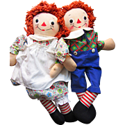 Tagged Georgene Raggedy Ann and Andy in Original Clothing