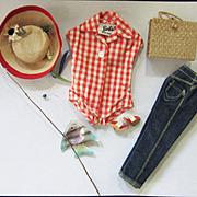 Vintage Tagged Barbie Picnic Set Complete