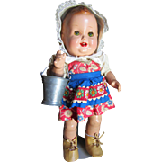 "12"" AO Vintage Composition ""Baby Sandy"" Toddler and Vintage Pail"