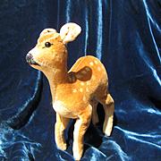 Vintage 1948 Steiff Deer With Glass Eyes
