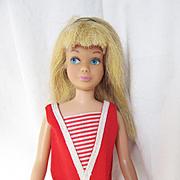Vintage Mattel Skipper in Original Swimsuit, Headband, shoes