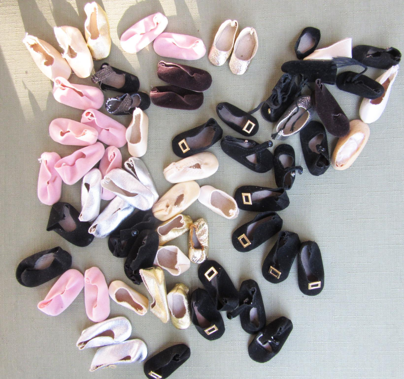 Group of 24 Pairs of Madame Alexander Shoes and 13 Singles