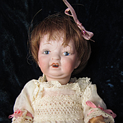 Antique Small Unmarked Bisque Head Baby