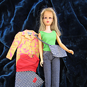 Bargain Vintage Mattel Francie Doll with Extra Tagged Clothes