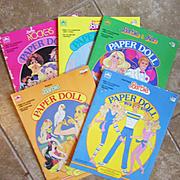 Five Vintage Barbie Paper Doll  Books