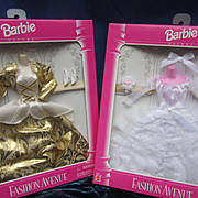 Two Vintage Barbie Fashion Avenue Designs