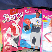 Four NRFB Vintage Barbie Outfits