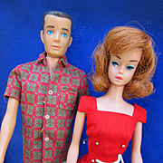 Vintage Mattel Barbie and Ken in Tagged clothes