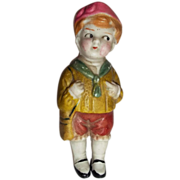"Small 3"" All Bisque Boy from the 20's"