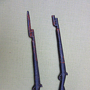 Two Cast Iron Rifles for doll soldiers
