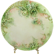 French Limoges Antique Plate Hand Painted Shamrocks