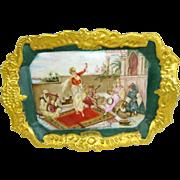 Antique French, Limoges Scenic Figural Portrait Porcelain Tray