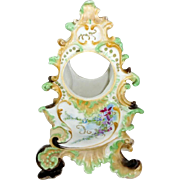 Antique Limoges France Clock Case Hand Painted Flowers Jeweled