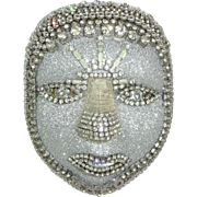 Elaborate Rhinestone Mask by William J. Beaupre