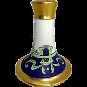 Antique Limoges Stouffer Hat Pin Holder Hand Painted Art Deco Style Artist Signed Rosler