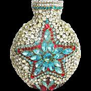 OOAK Vintage Bottle Embellished with Rhinestones