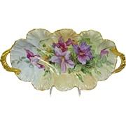 Antique French Limoges Tray Hand Painted Clematis