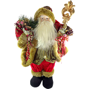 Large Vintage Santa Claus Christmas Holiday Doll