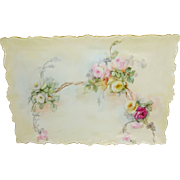 Beautiful Antique French Limoges Tray Hand Painted Tea Roses