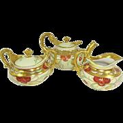 Antique Limoges Pickard Tea Set Hand Painted Cherries Signed