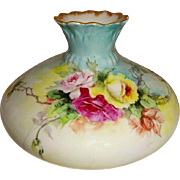 Antique Austria Vase Hand Painted Trailing Tea Roses