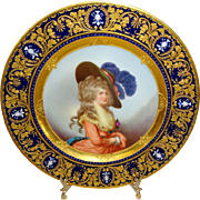 Richard Klemm Dresden Portrait of the Duchess of Devonshire Plate