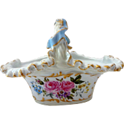 Antique French JPL Limoges Porcelain Basket Dated 1893