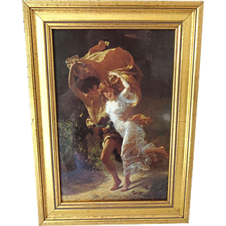 """The Storm"" by Pierre Auguste Cot Framed"