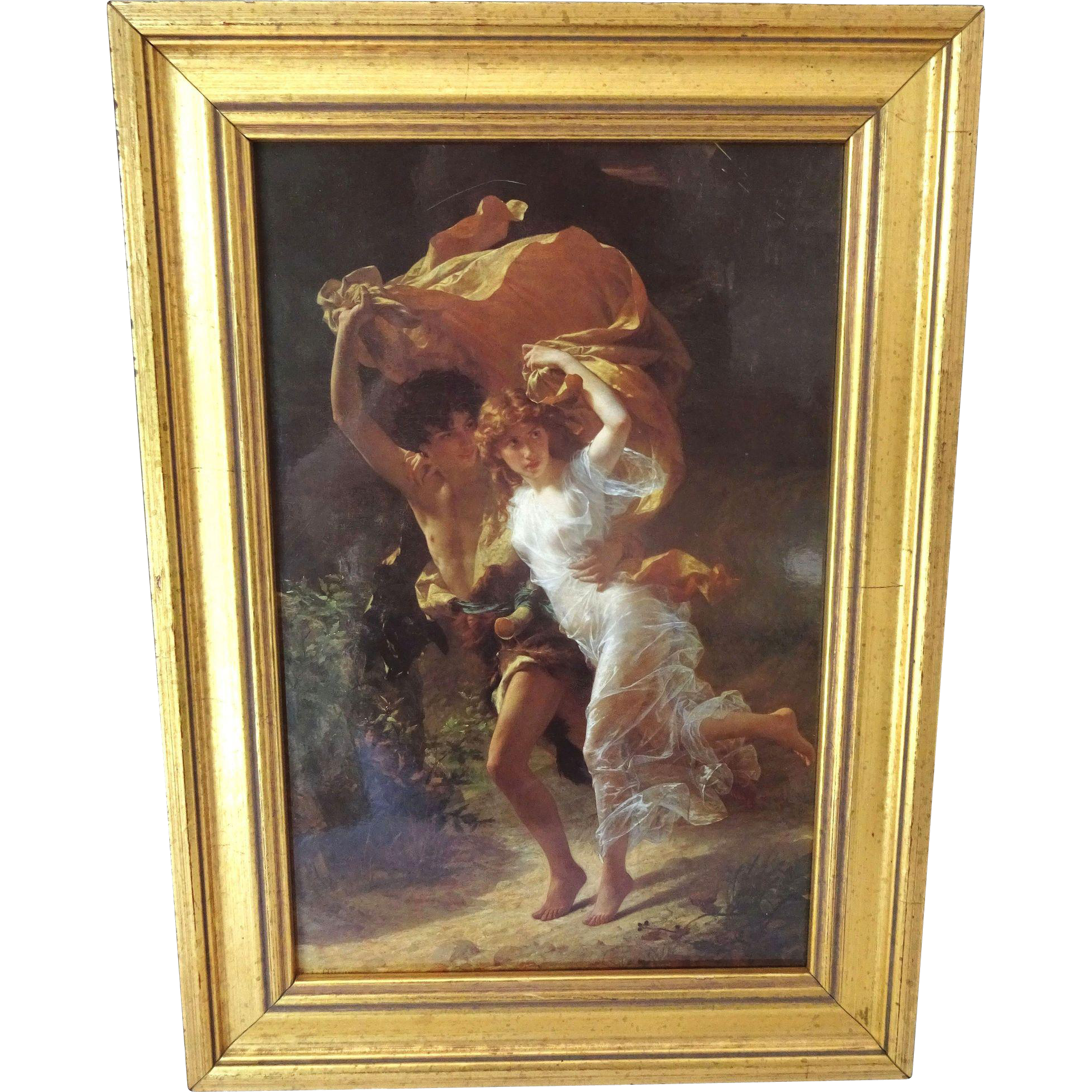 """""""The Storm"""" by Pierre Auguste Cot Framed"""