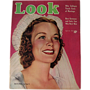 Look Magazine April 1939 Bride Cover Vintage Periodical / Vintage Magazine 1930s / Gossip Magazine / Photographic Magazine