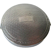 Silver Deauville Powder Compact by Richard Hudnut 1920s / Bridesmaid Gift / Vanity Item / Purse Accessory