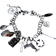 Sterling Charm Bracelet with 11 Charms