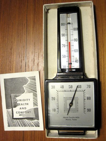 The Eton Airguide Hygrometer & Thermometer - Advertising