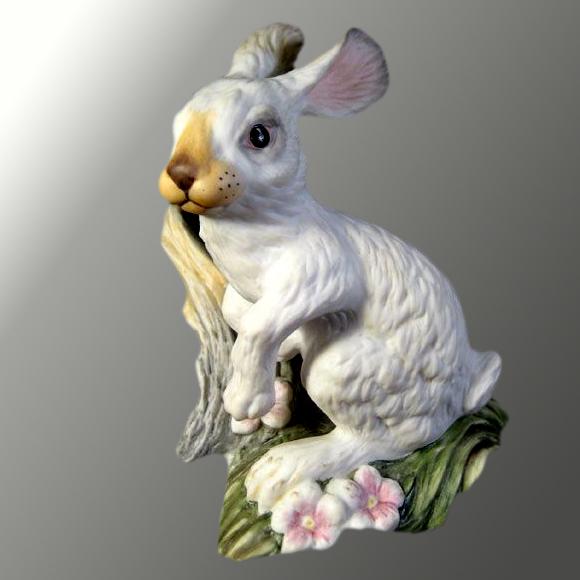Vintage Boehm Snowshoe Hare Porcelain Figure