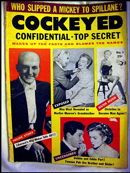 50% OFF Cockeyed Confidential - Top Secret  -- Vintage Rag Magazine 1955
