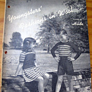Youngsters' Fashions in Wool -- Vintage Pattern Book