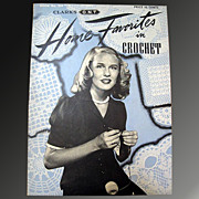 Home Favorites in Crochet - 1944 Clark's Pattern Booklet - Red Tag Sale Item