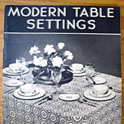 Modern Table Settings -- Pattern Booklet 1937