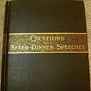 Vintage Book - Oration and After-Dinner Speeches by Chauncey M Depew
