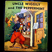 Uncle Wiggily and The Peppermint - Children's Illustrated Paper Book 1910