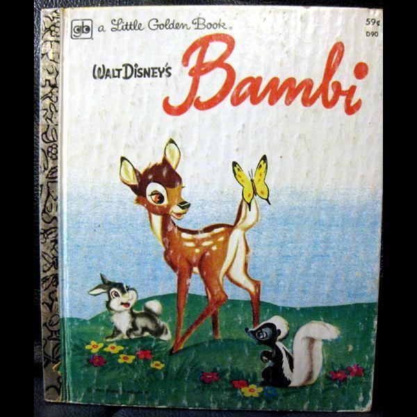 Vintage Little Golden Book - Bambi by Walt Dinsney